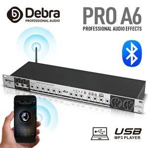 Equipamento profissional do sistema do controlador de som do processador do efeito de bluetooth de a6 digitas