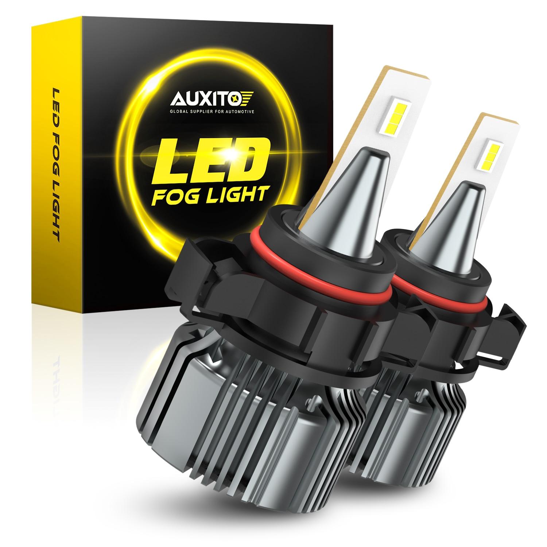 AUXITO-bombillas de luz antiniebla LED 2504 PSX24W, lámpara antiniebla de conducción automática, LED blanca, 12V, 6000k, PS19W, 5202, 2 uds.