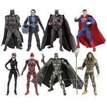 Mafex Dc Comics Justice League Batman Joker Superman Aquaman Flash Selina Kyle Pvc Action Figure Collection Model Toy