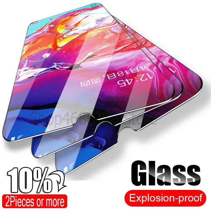 الزجاج المقسى لسامسونج غالاكسي A50 A30 حامي الشاشة الزجاج لسامسونج غالاكسي A51 A10 M20 A20 A20E A40 A80 A70 A60 الزجاج