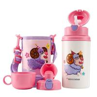 Children Vacuum Thermos Double wall 316 Stainless Steel With Straw Portable Cute Cartoon With Cup Set Christmas Gift