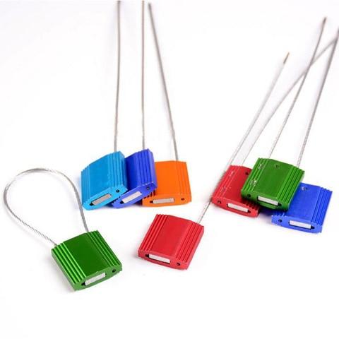 100pcs liga de aluminio selo abracadeiras fio de aco anti roubo de chumbo selo recipiente