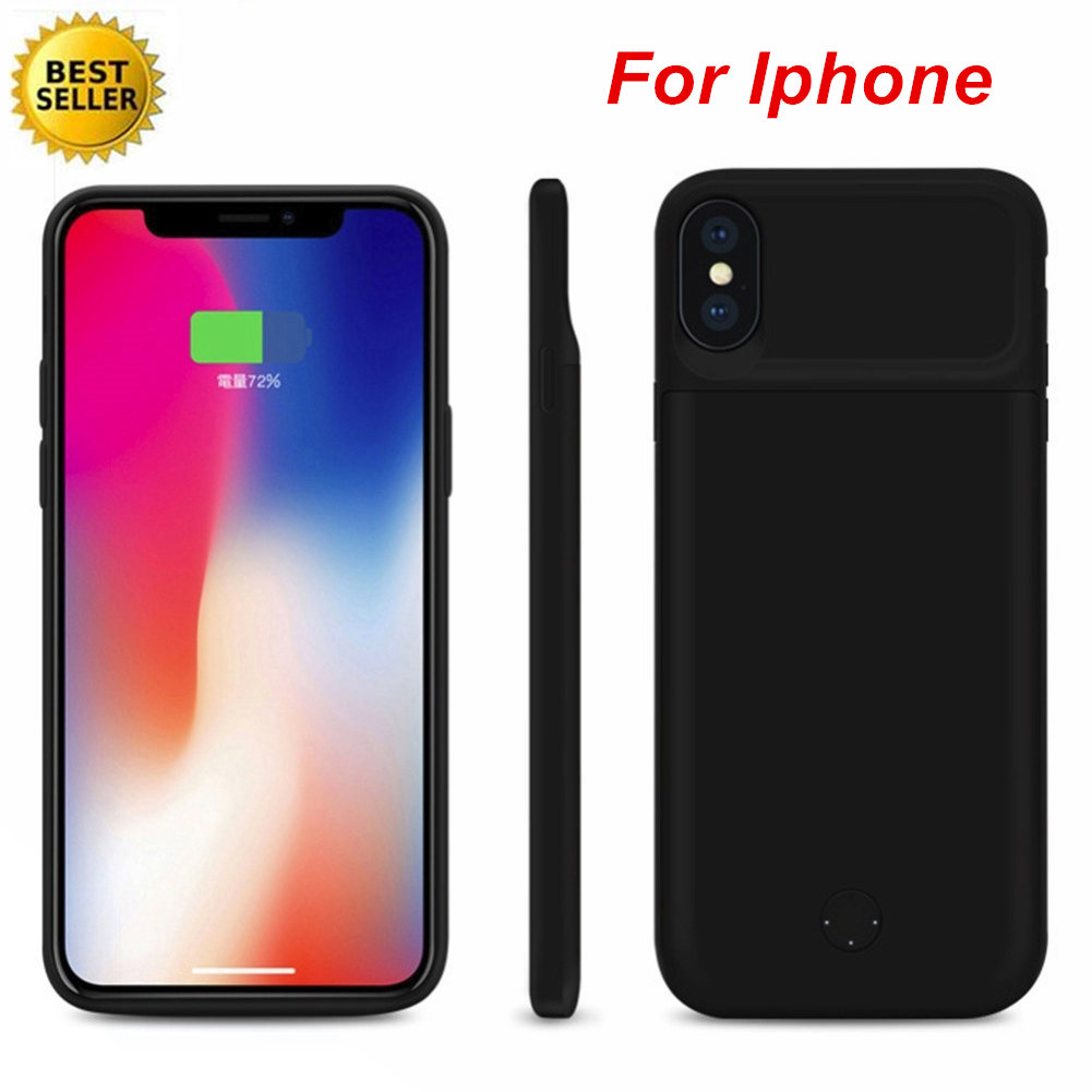 For <font><b>Iphone</b></font> <font><b>6</b></font> 6S 7 8 <font><b>6</b></font> Plus 7 Plus 8 Plus X XS XR XS Max <font><b>Battery</b></font> Charger <font><b>Case</b></font> Smart Silica gel Material <font><b>Battery</b></font> <font><b>Case</b></font> Power Bank image