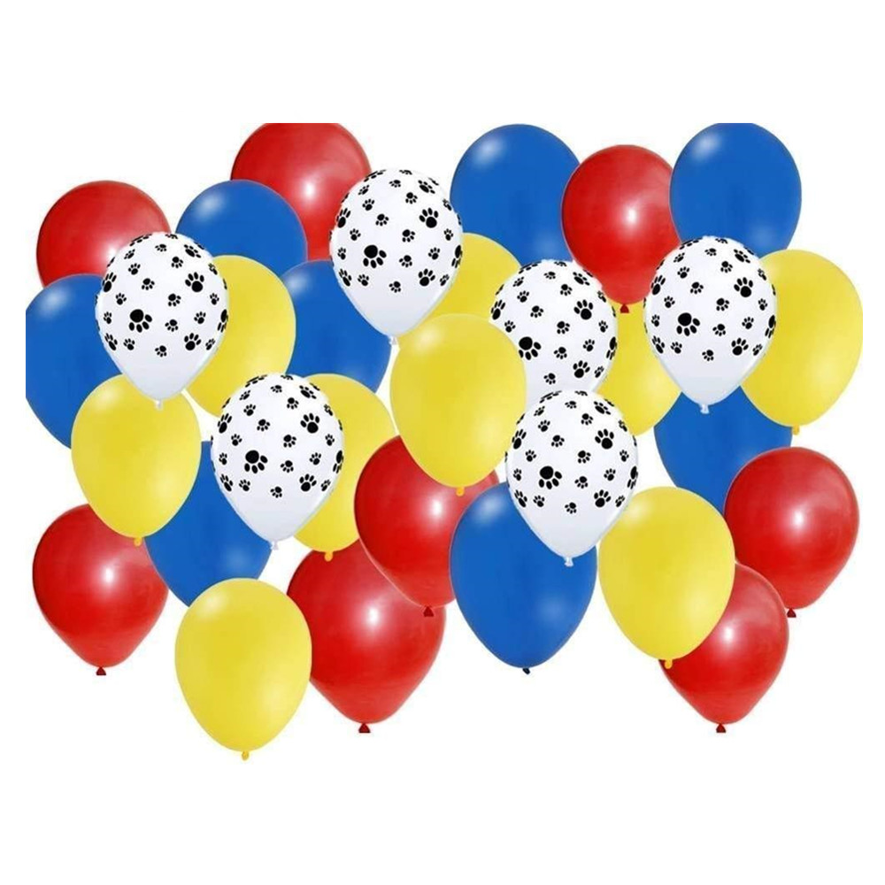 40pcs Mix 2.3g Pets Dog Paw Latex Balloons Animal Theme Party Decor Kids Classic Toys Globos Helium Air Inflatable Balls Supply