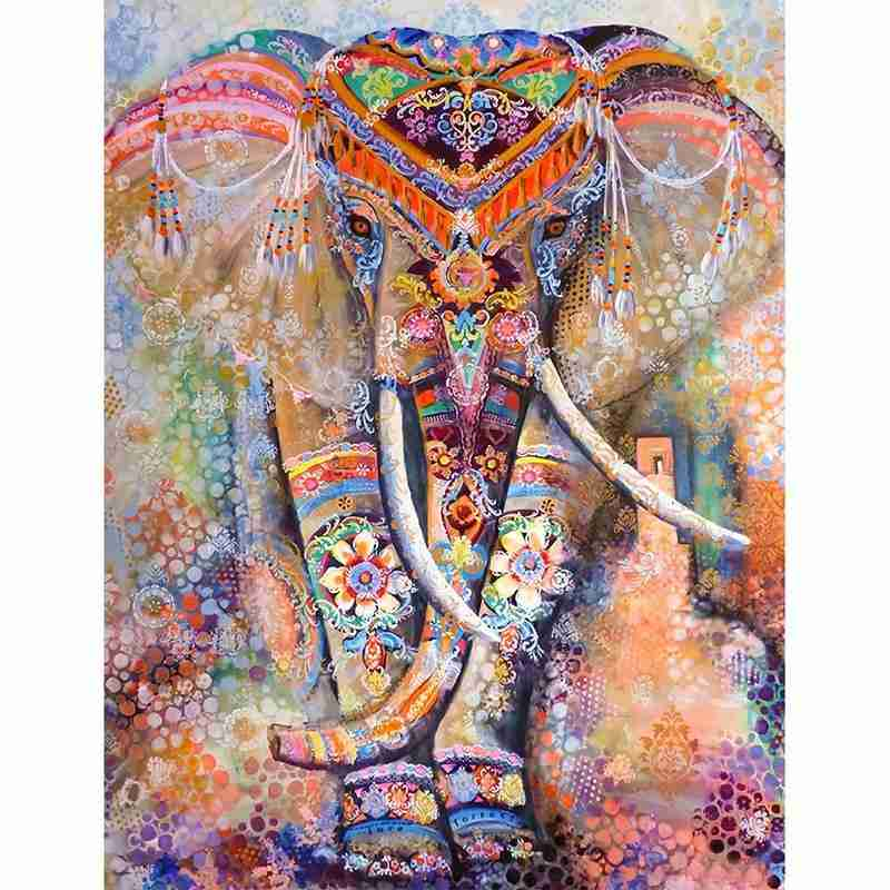 1000 Pieces Mandala Elephant Jigsaw Puzzles Educational Toys Educational Puzzle Interactive Toy For Kids Adults Birthday Gift
