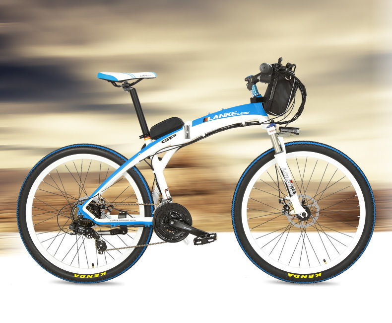 Lankeleisi 189.47 electric bicycle, folding bicycle, 26 inches, 36/48 V, 240 W, disk brake, fast folding, mountain 28