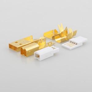 Image 5 - Connecteur USB plaqué or haut de gamme USB A + prise de USB B de Type A B pour câble USB bricolage Taiwan