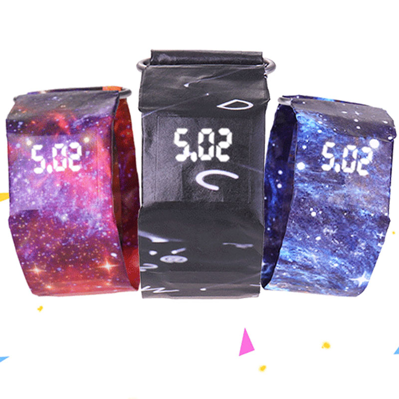 Paper Watch  Led Children's Watch  Outdoor Fashion Student  Paper Electronic Kids Watch