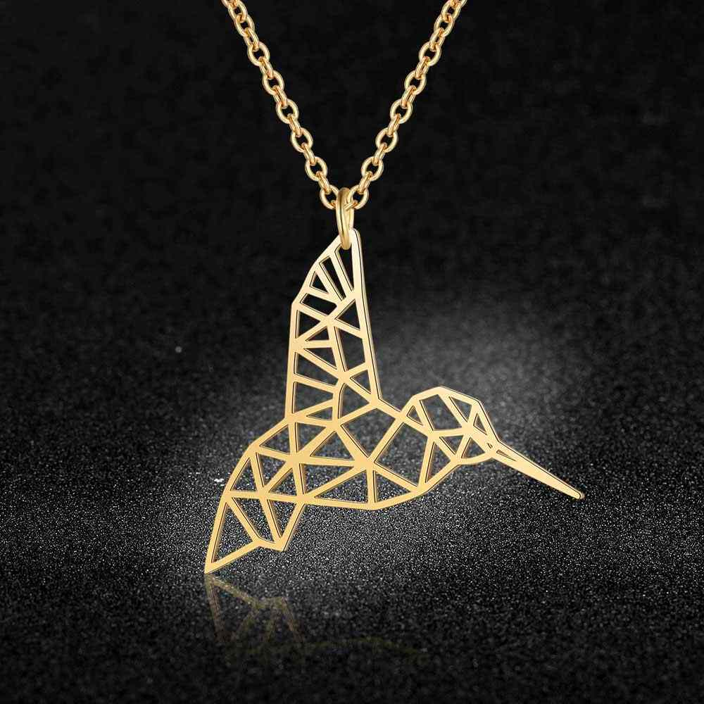 Unique Hummingbird Necklace LaVixMia Italy Design 100% Stainless Steel Necklaces for Women Super Fashion Jewelry Special Gift
