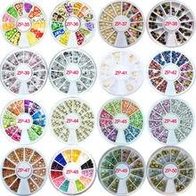 31 дизайн разнообразные гвоздики и ринкамни на колесах блестящие