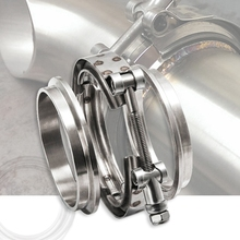 3'' Inch SS304 V-Band Clamp Stainless Steel M/F 3 v band Turbo Exhaust Downpipe