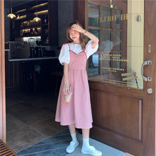Kawaii Sleeveless Women Dress Japanese Girly Strap Camisole Dresses Summer Cute Plaid Female Clothing  Mid Length Streetwear