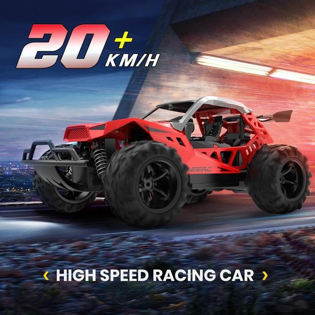 DEERC RC Car Drift 20 KM/H 1:22 Racing RC Car 60 Mins Play Time 2.4 GHz Drift Buggy Toy Car With 2PCS Batteries For Children 1