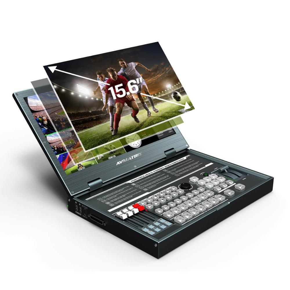 Image 2 - Avmatrix PVS0615 Portable 6 Channel Multi format Video Switcher SDI HDMI Video Mixer with 1080p recordMonitor   -
