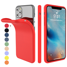 For iPhone 11 Pro Max 11 pro Case Soft TPU Bumper Shockproof Cover for iPhone X XS Max XR 6 6S 7 8 Plus Case Silicon Candy Color fashion brand pink soft silicon tpu case for iphone 11 pro max phone case for iphone x xr xs max 8 7 6 6s plus secret back cover