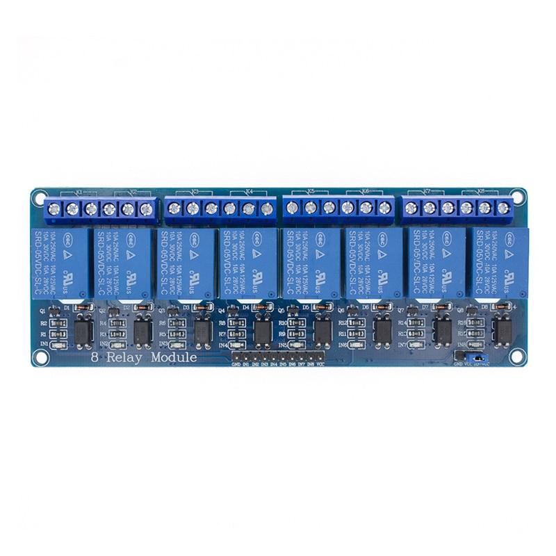 5v 1 2 4 8 канальный релейный модуль с оптроном. Релейный выход X way релейный модуль для arduino 1CH 2CH 4CH 8CH - Цвет: 8CH