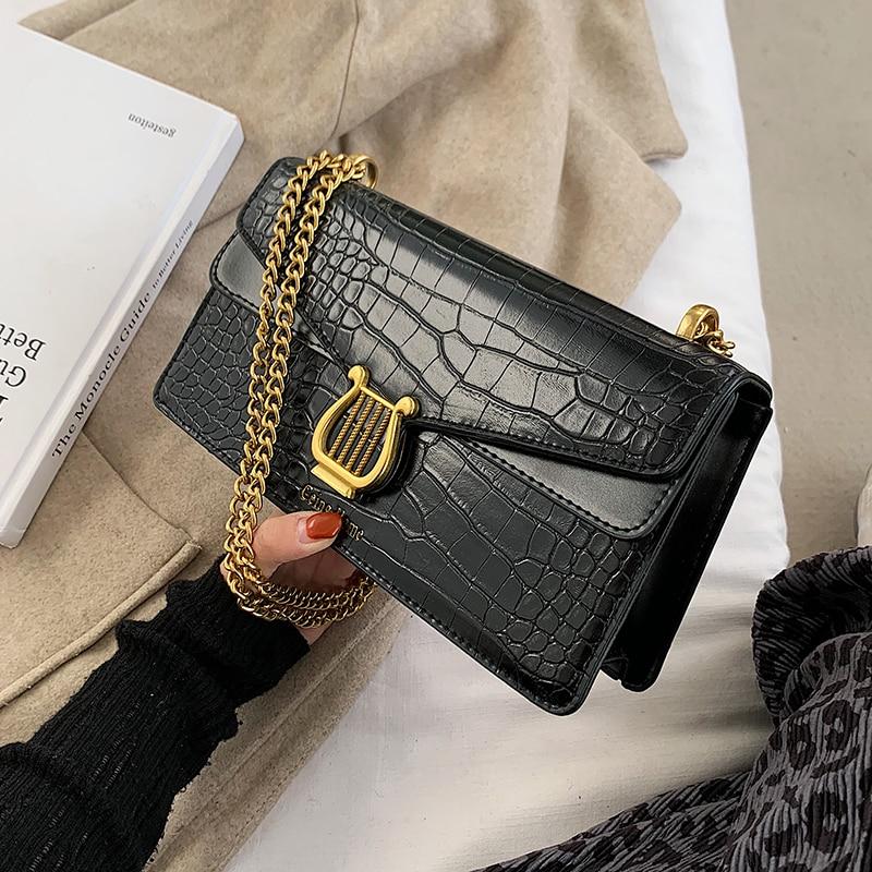 с доставкой  Chain Design Pu Leather Shoulder Bags For Women 2021 Fashion Simple Handbags Female Handbags Lady Hand Bag