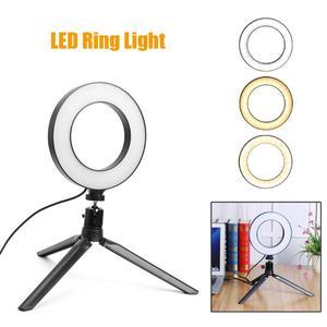 Image 5 - 16cm LED Dimmable יופי Selfie טבעת אור מנורת w/טלפון קליפ מחזיק חצובה מקצועי לחיות סטודיו צילום אבזרים