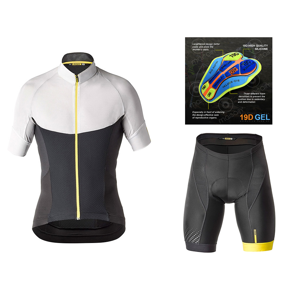 NW Cycling Clothing Bike jersey Quick Dry Mens Bicycle clothes summer MAVIC Step team Jerseys gel bike shorts set