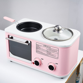 Household Three-in-one Breakfast Maker Mini Multifunctional Breakfast Machine Breakfast Making Egg Oven Machine 220v automatic electric household egg roller machine egg sausage machine egg roll breakfast machine ham egg sausage maker