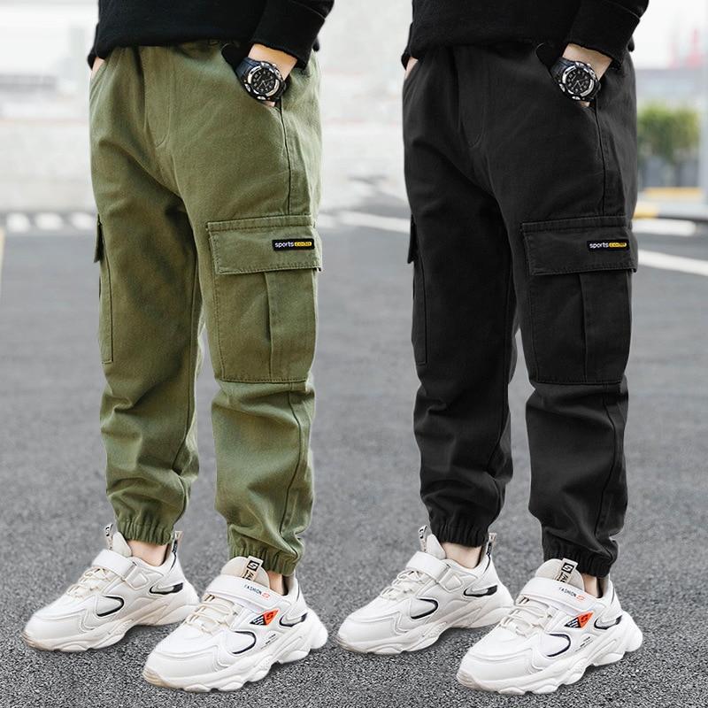 Детские штаны повседневные брюки для мальчиков детские штаны повседневные штаны для детей одежда из хлопка для мальчиков, длинные брюки Де...