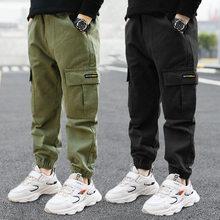 Crianças calças meninos calças casuais crianças roupas de algodão meninos calças compridas crianças meninos roupas esporte meninas calças primavera 3-16years
