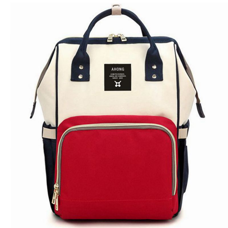 2018 New Style Diaper Bag Multi-functional Large-Volume Mom And Baby Backpack Nursing Backpack Women's Korean-style Fashion Momm