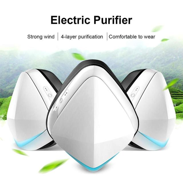 Electric Respirator with Replaceable Activated Carbon Protect Layer for Adults 4-Ply Rechargeable Electric Purifier 1