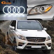 Для Mercedes Benz M Class W166 ML350 ML400 ML550 ML63 2012- отличное Ультра яркое освещение smd комплект светодиодов «глаза ангела» DRL