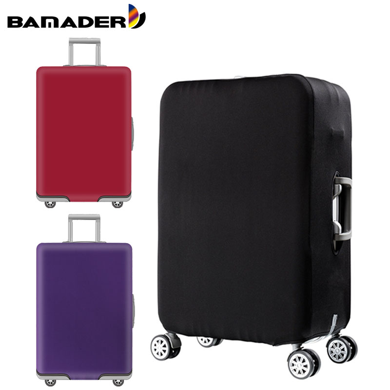BAMADER Solid Color Suitcase Cover Thicke Luggage Dust Cover Trolley Case Protective Cover Elastic Waterproof Travel Accessories