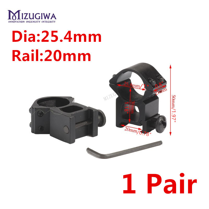 1 Pair MIZUGIWA Scope Mount 25.4mm/1