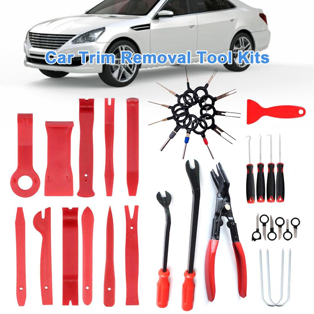 38PCS Professional Car Audio Disassembly Interior Door Panel Trim Dash Auto Radio Removal Pry Tools Set Car Panel Removal Tools