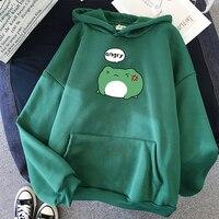 Winter Wütend Frosch Hoodies Unisex Übergroßen Sweatshirt Student Grüne Mode Lässig hoodie Drucken Hoodies Harajuku Hip Hop Mit Kapuze