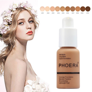PHOERA 30ml Face Foundation Base whitening Moisturizer Oil Control Concealer Liquid Foundation long-lasting 24 Hours TSLM2