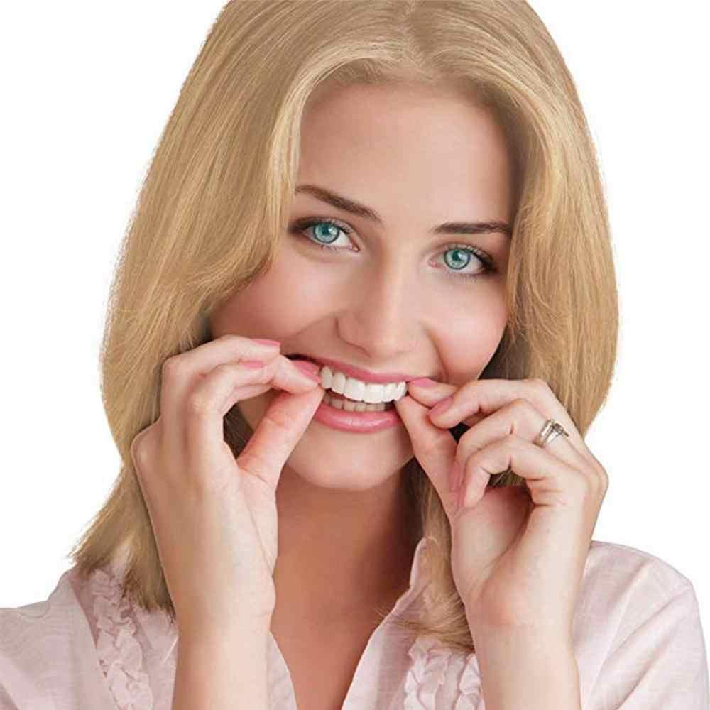 2Pcs Sorriso Denti Bretelle Set Sorriso Protesi Denti Cosmetici Confortevole Copertura Impiallacciatura Sbiancamento Dei Denti Denti Per Protesi Giocattoli per I Bambini