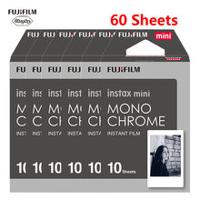 Fujifilm Instax Mini película 10 60 hojas monocromo blanco y negro de la película para Fujifilm Instaxmini 8 7s 25 50s 9 11 cámara instantánea