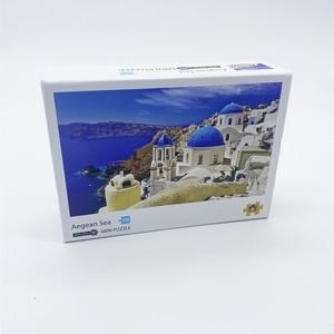 Image 5 - 1000 pezzi Mini Puzzle per adulti e bambini semplice sfida giocattoli gioco di decompressione del paesaggio (dimensioni 42x30cm)