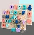 Детский деревянный когнитивный 3D-пазл, игрушки с буквами алфавита, цифрами, пазл для дошкольного обучения, детские игрушки