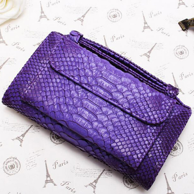 Smart Wallet SecridWomen Wallet Luxury Fashion Girl Shoulder Bags Clutch Snake Pattern Purse Bags For Women 2018