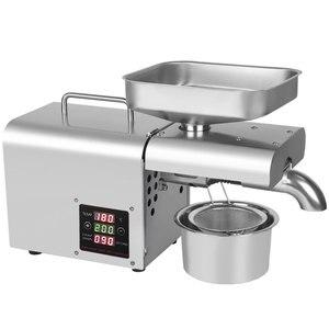 Image 3 - 110V/220V einstellen temperatur automatische kaltpressung öl maschine, öl kaltpressung maschine, sonnenblumen samen öl extractor, ölpresse