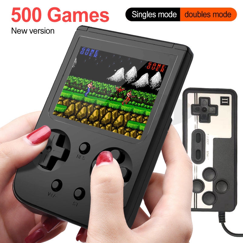 Video Game Console 3.0 Inch Color LCD Game Player Built In 500 Games Retro Handheld Game Console For Kids Gift Support TV Output