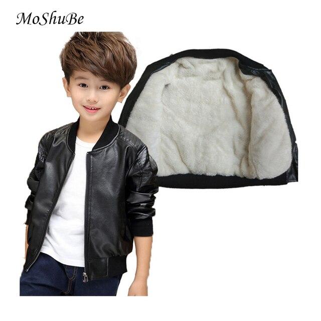 Kleidung für Kinder Neue Baby Casual Faux Leder warme Jacke Kinder Outwear Für Baby Mädchen und Jungen Jacke Baby Mode jacke