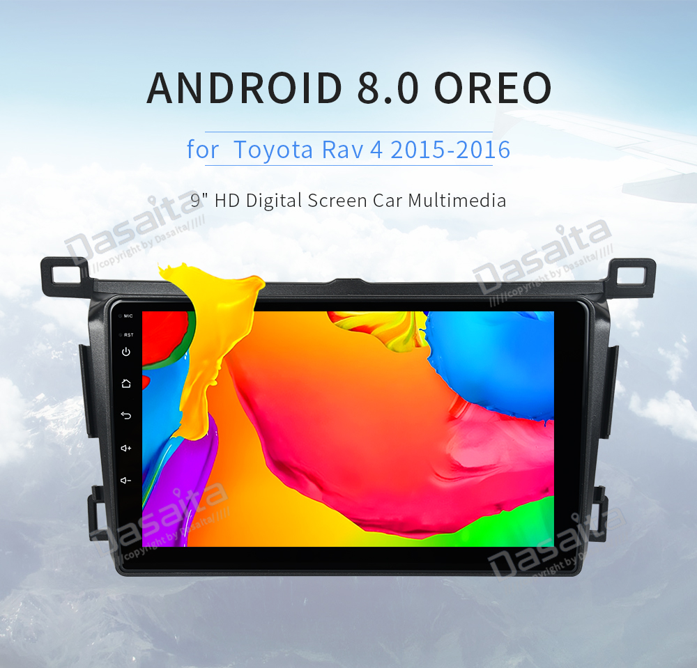 Car 1 din Android car multimedia player For <font><b>Toyota</b></font> <font><b>RAV4</b></font> 2013 <font><b>2014</b></font> <font><b>2015</b></font> <font><b>2016</b></font> <font><b>2017</b></font> radio <font><b>Rav</b></font> <font><b>4</b></font> stereo GPS navi 4Gb Ram wifi image