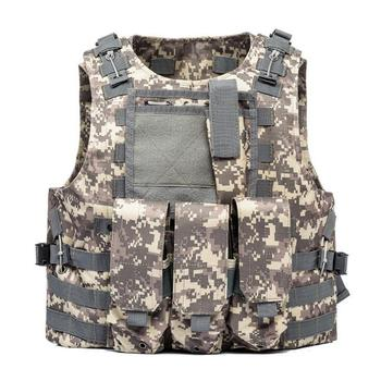 USMC Airsoft Military Tactical Vest Molle Combat Assault Plate Carrier Tactical Vest 7 Colors CS Outdoor Clothing Hunting Vest 10