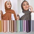 Шифоновый шарф премиум-класса 5 шт./лот, Женский мусульманский хиджаб, шарфы, простые мусульманские длинные шарфы, шаль, женский шарф, 175x70 см