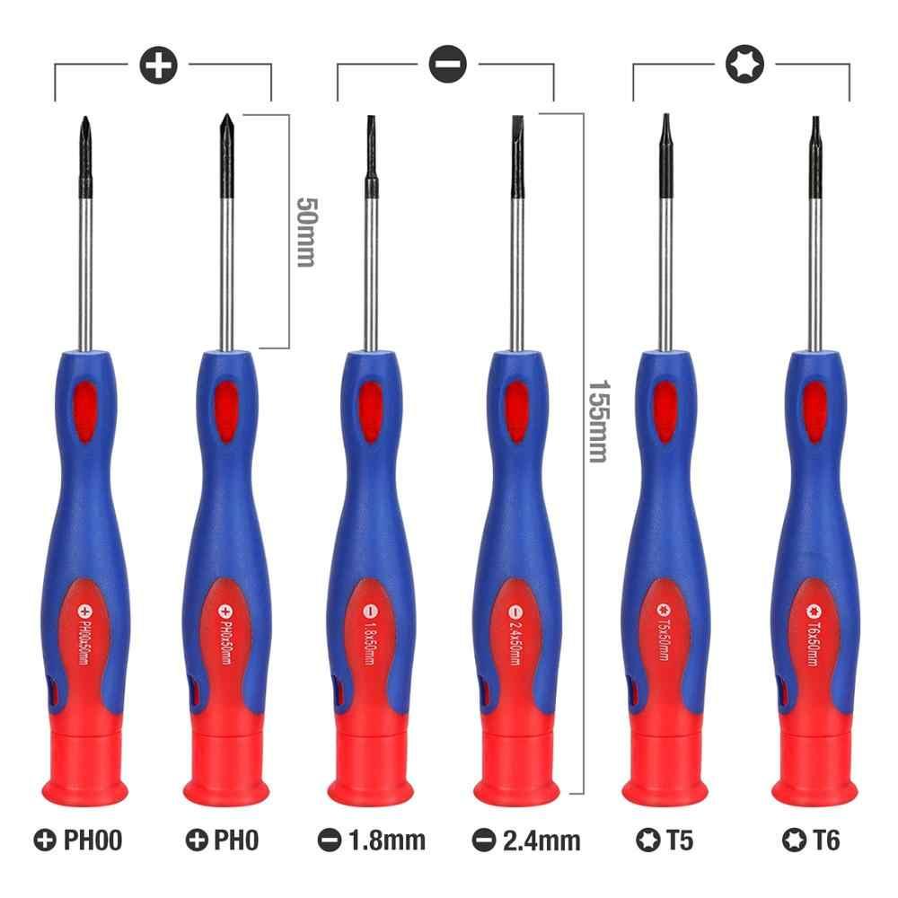 WORKPRO 6 قطعة طقم مفك برغي البسيطة مفك مغناطيسي ل عدة إصلاح الهواتف الذكية أطقم