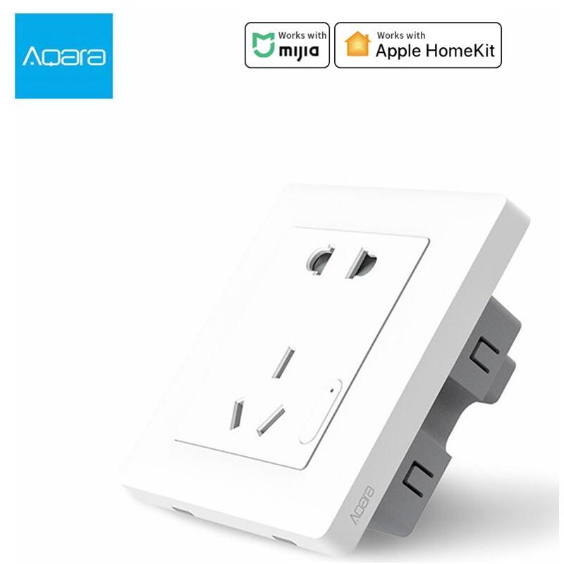 Aqara Smart wall Socket Zigbee wifi Remotel Control Wireless Switch Work For Smart home kits APP