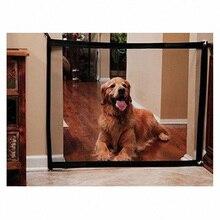 Dog Gate Mesh Pet Fence Barrier Folding Safe Guard Indoor Outdoor Puppy Dog Separation Protect Enclosure Pet Supplies