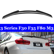 New M4 Style Back Wing Lip For BMW 3 Series F30 F35 F80 M3 Real Carbon Spoiler 320i 328i 335i 326D 2012-2018 for bmw f30 f80 m3 spoiler carbon fiber material m performance style 2012 up 320i 328i 335i 326d f30 carbon fiber