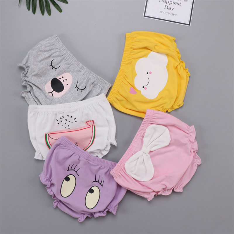 Children's Underwear Cute Triangle Shorts 0-3 Years Old Baby Summer New Shorts Cotton Big PP Pants Boys Girls Cartoon Clothes